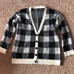 Target Checkered Button Up Cardigan